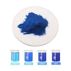 spirulina extract phycocyanin E25 and aqueous solution