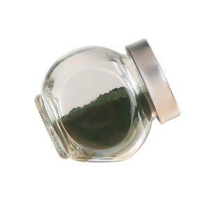 spirulina powder in the bottle