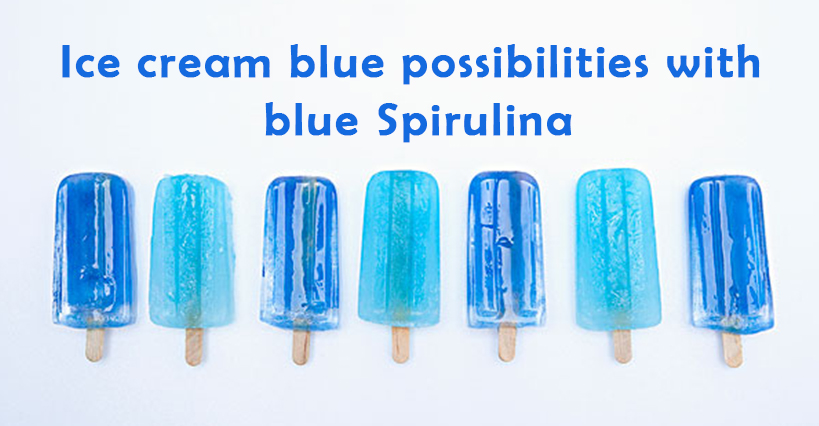Ice Cream Blue Possibilities With Blue Spirulina