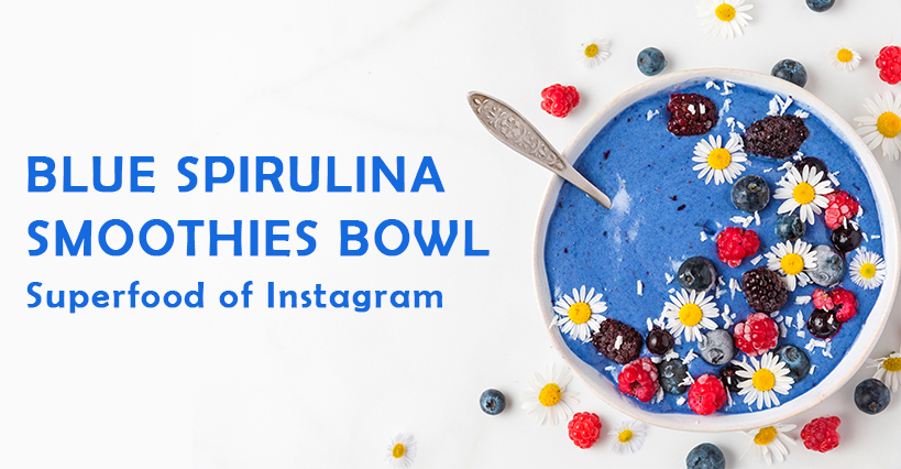 Blue Spirulina Smoothie Bowl丨Superfood of Instagram