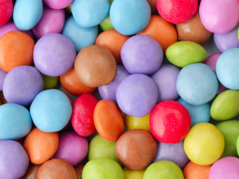 Blue spirulina applications in soft candy