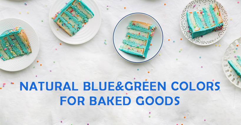 Natural Blue&Green Colors for Baked Goods