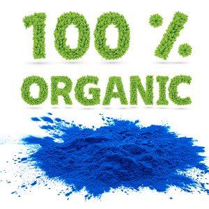 100% organic phycocyanin powder