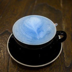blue spirulina used in coffee
